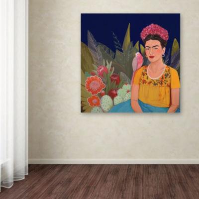 Trademark Fine Art Sylvie Demers Frida A Casa AzulRevisitated Giclee Canvas Art