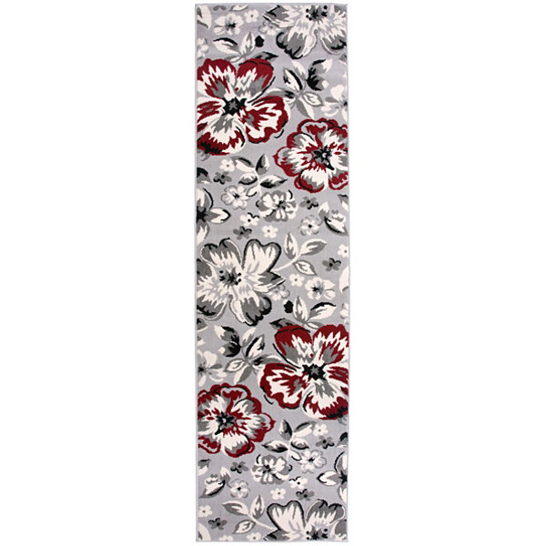 World Rug Gallery Modern Floral Circles Runner Rug