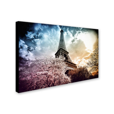 Trademark Fine Art Philippe Hugonnard Eiffel TowerColor Giclee Canvas Art