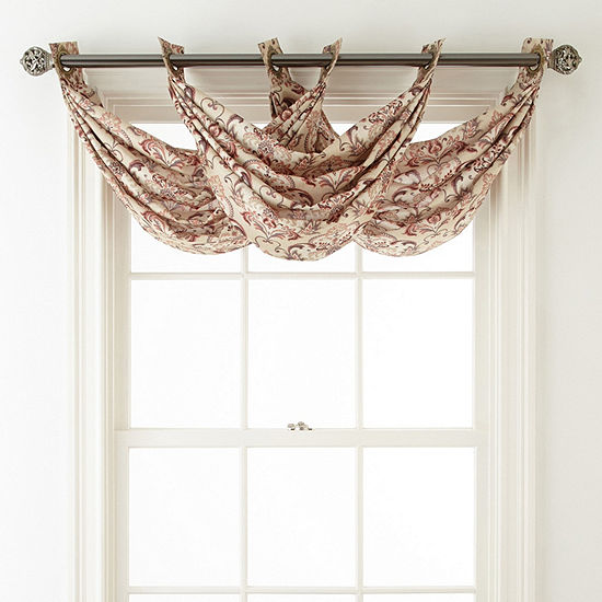 JCPenney Home Blaine Grommet-Top Waterfall Valance