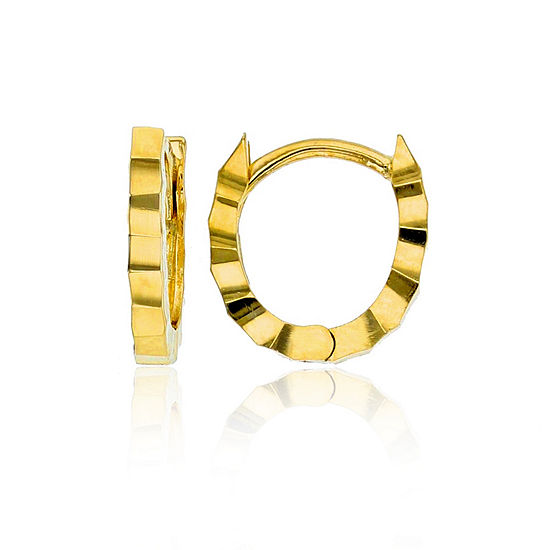 14K Gold 10mm Hoop Earrings