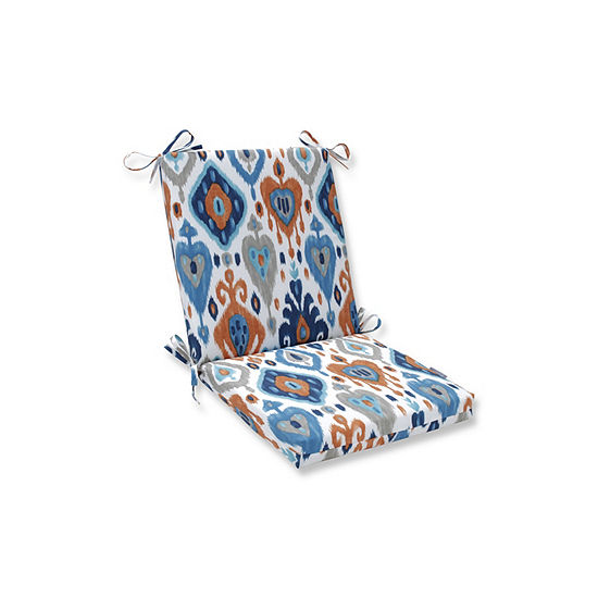 Pillow Perfect Paso Azure Squared Corners Patio Chair Cushion