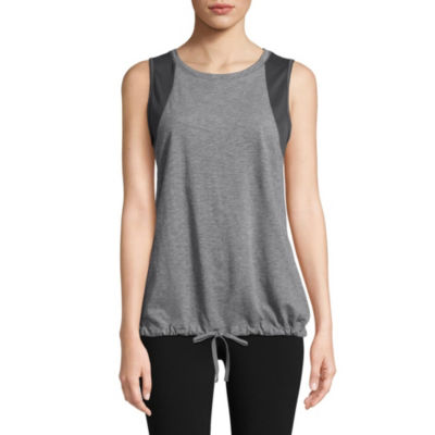 St. John's Bay Active Sleeveless Round Neck T-Shirt-Womens