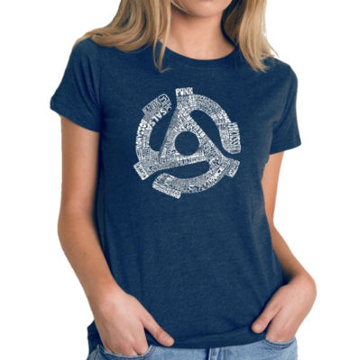 Los Angeles Pop Art Women's Premium Blend Word ArtT-shirt - Record Adapter