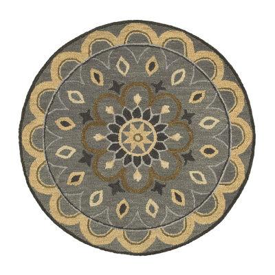 Dazzle Botanic Medallion Round Rug