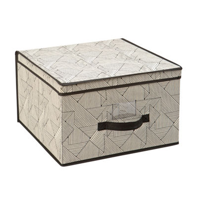 Non-Woven Storage Box-Jumbo 16X16X10 - Geo Natural