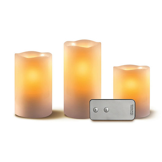 Apothecary with Remote 3-pc. Flameless Candle