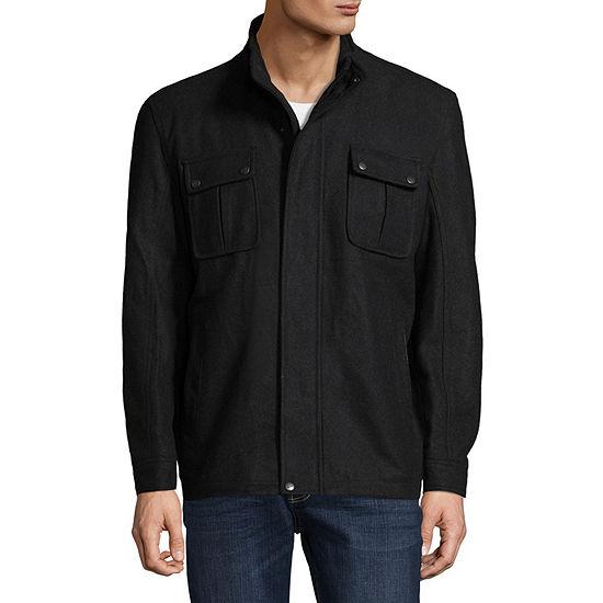 Vintage Leather Hipster Wool Blend Jacket