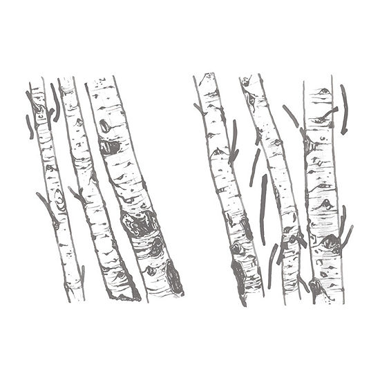 New View Birch Trees Wall Decal