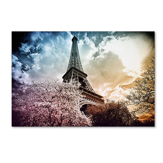 Trademark Fine Art Philippe Hugonnard Eiffel Tower Color Giclee Canvas Art
