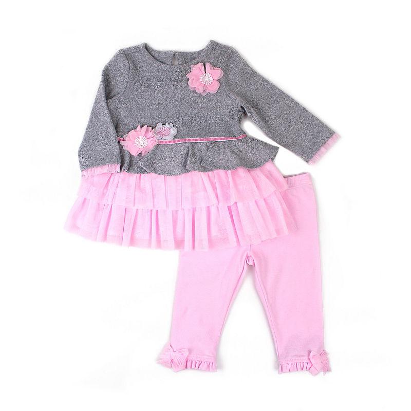 Nanette Baby 2-pack Legging Set – Girls, Pink, Size 3-6 Months