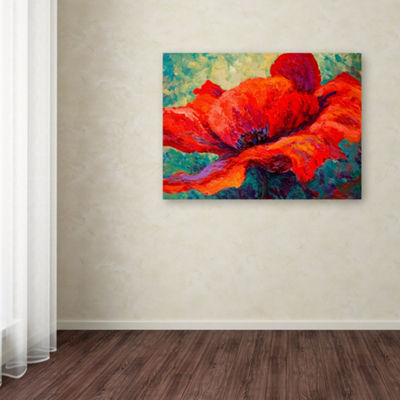 Trademark Fine Art Marion Rose Red Poppy III Giclee Canvas Art