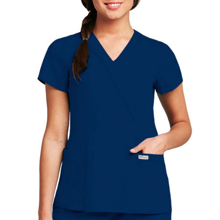 Greys Anatomy Womens Scrubs Mock Wrap Top Jcpenney