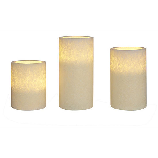 Apothecary Led 3pc Compressed Flameless Candles Universal Remote Sold Separately