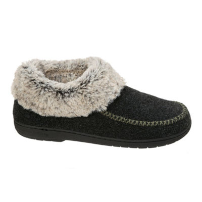 Dearfoams Knit Low Bootie Slippers