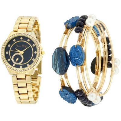 Womens Gold Tone Bracelet Watch-St2018g695-474