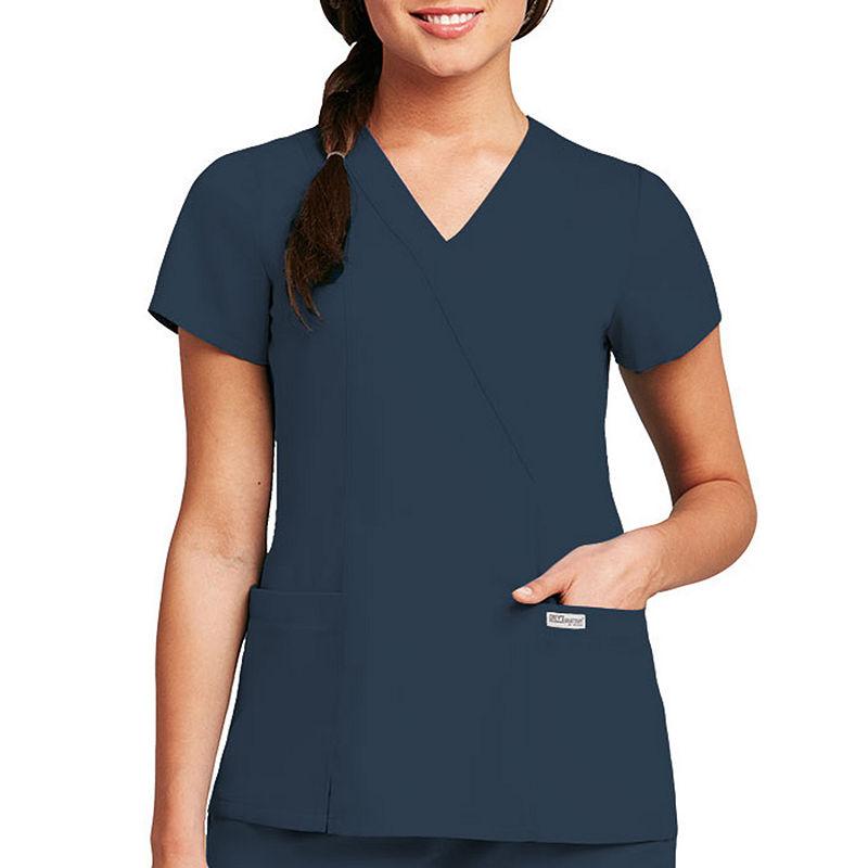 8f14030255f Grey's Anatomy™ Womens Scrub Mock Wrap Top plus size, plus size  fashion plus size