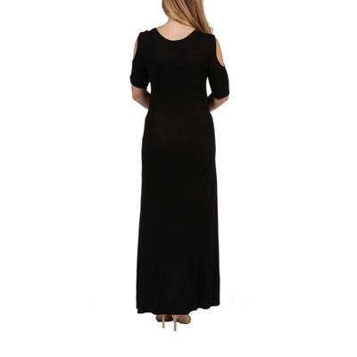 24/7 Comfort Apparel Meg Maternity Maxi Dress