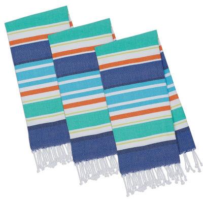 Beachy Stripes Fouta Towel Set - Set of 3