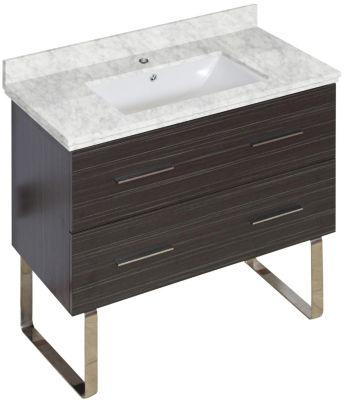 35-in. W 17-in. D Modern Plywood-Melamine Vanity Base Set Only In Dawn Grey