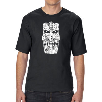 Los Angeles Pop Art Men's Tall and Long Word Art T-shirt - TIKI - BIG KAHUNA