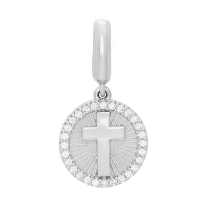 Ps Personal Style White Cubic Zirconia Sterling Silver Cross Charm