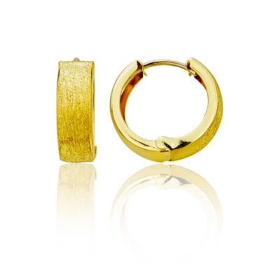 14K Gold 15mm Hoop Earrings