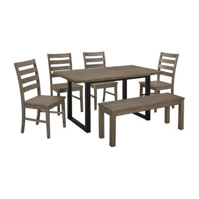 Madison 6-pc. Wood Dining Set