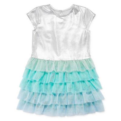 Okie Dokie Sleeveless Swing Dresses-Toddler Girls