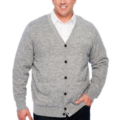 The Foundry Big & Tall Supply Co. Mens Long Sleeve Cardigan - Big and Tall