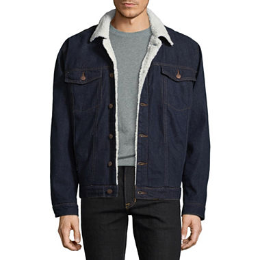 Victory Men's Sherpa-Lined Denim Jacket