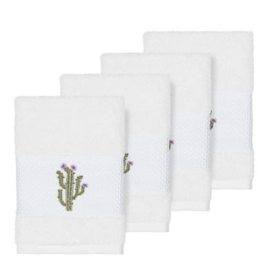 Linum Home Textiles 100% Turkish Cotton Mila Embellished Towel Collection
