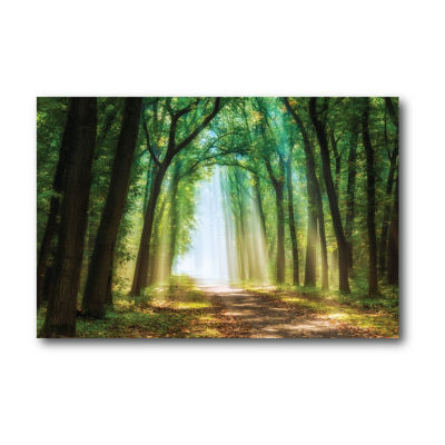 Emerald Enchanted Forest Canvas Art