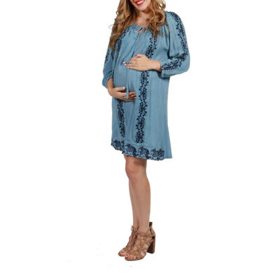 24/7 Comfort Apparel Willow Maternity Dress
