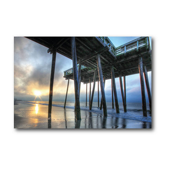 Courtside Market Fishing Pier Canvas Art