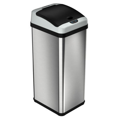 iTouchless Rectangular Extra-Wide Stainless Steel Automatic Sensor Touchless Trash Can, 13 Gallon, 11.8-Inch Opening