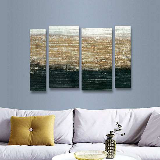 Sandstorm Gallery 4-pc Staggered Set Wrapped Canvas