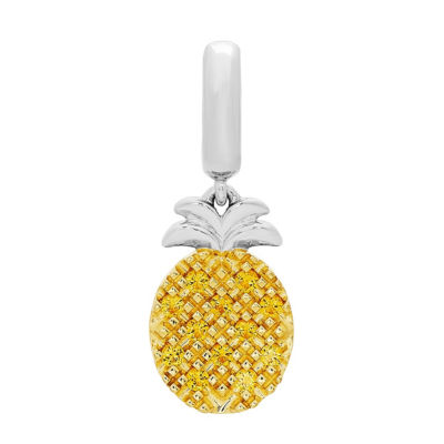 Ps Personal Style Yellow Citrine 14K Sterling Silver Gold Over Silver Charm