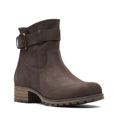 0397bb37ef274 Clarks Womens Marana Amber Booties Flat Heel Zip - JCPenney