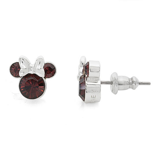 Disney Red Crystal 9.3mm Minnie Mouse Stud Earrings