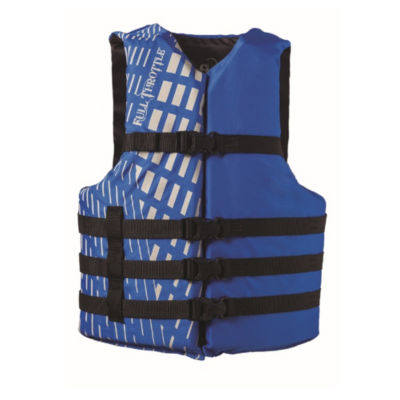 Full Throttle Adult Blue Universal Nylon Water Sports Vest