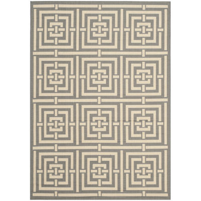 Safavieh Courtyard Collection Varvara Geometric Indoor/Outdoor Area Rug