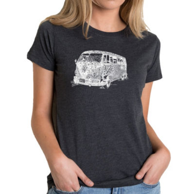 Los Angeles Pop Art Women's Premium Blend Word ArtT-shirt - THE 70'S