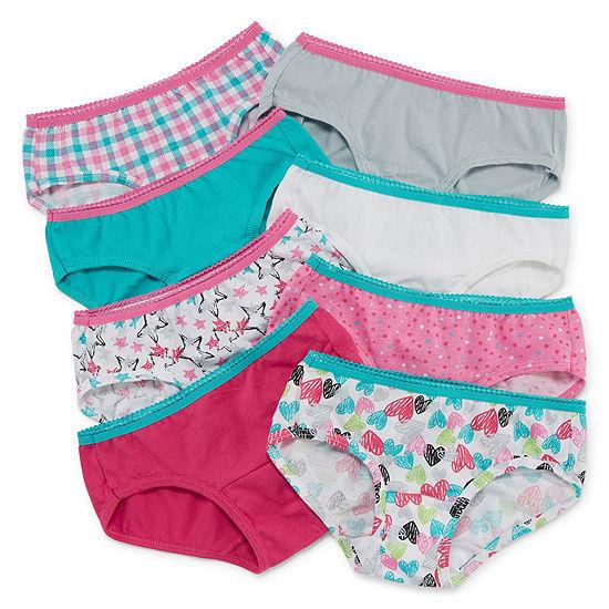 Hanes Big Girls 8 Pack Hipster Panty