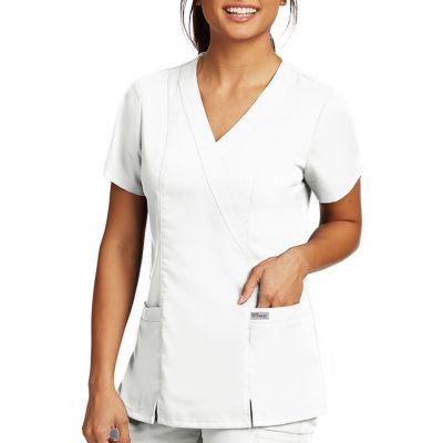Barco™ Grey's Anatomy 41101 2-Pocket Mock Wrap Top - Plus