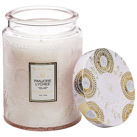 VOLUSPA Panjore Lychee Large Glass Jar Candle