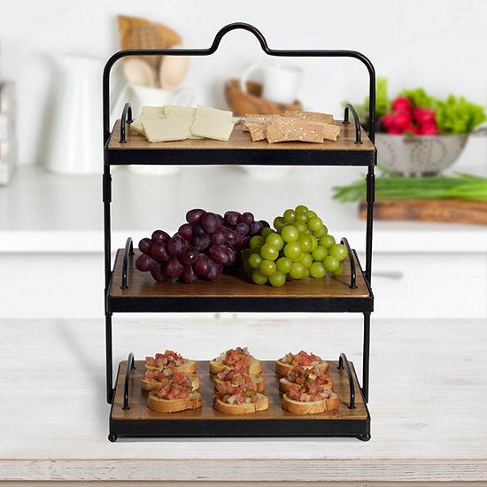 Gourmet Basics by Mikasa Mksa Gb Siera 3 Tier Buffet W Try Gb Kd Tiered Server