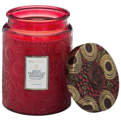 VOLUSPA Goji & Tarocco Orange Large Glass Jar Candle