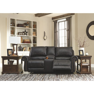 Signature Design By Ashley® Milhaven Reclining Loveseat With Console
