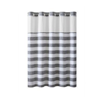 Yarn Dye Stripe Hookless Shower Curtain